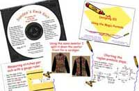 Sandee's Kwik Knits book and pattern designing 101 magic forumla CD for hand or machine knitting sandee cherry