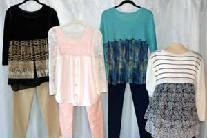 Stylish Blends Using Knits and Fabric for Machine Knitters Sandee's Kwik Knit